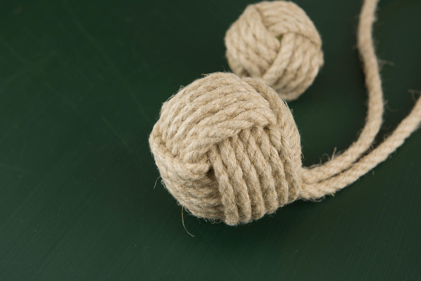 Rope Ball Dog Toy With Handle Doggie Apparel