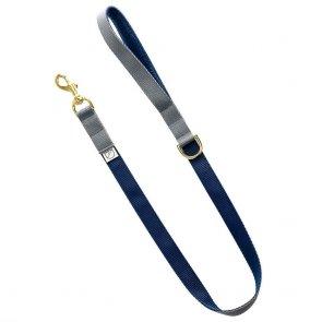 luxury grey dog lead and collar doggie apparel