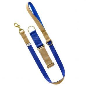 royal blue dog lead and collar doggie apparel