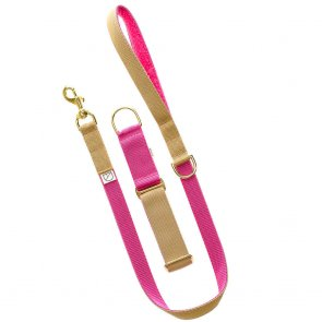 pink dog lead and collar doggie apparel