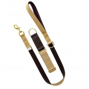 brown dog lead and collar doggie apparel
