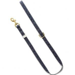 doggie apparel grey velvet dog lead