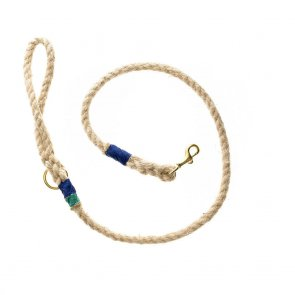 Doggie Apparel Natural Rope Dog Lead 'Marine'
