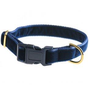 doggie apparel blue velvet dog collar