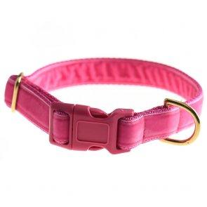 doggie apparel pink velvet dog collar