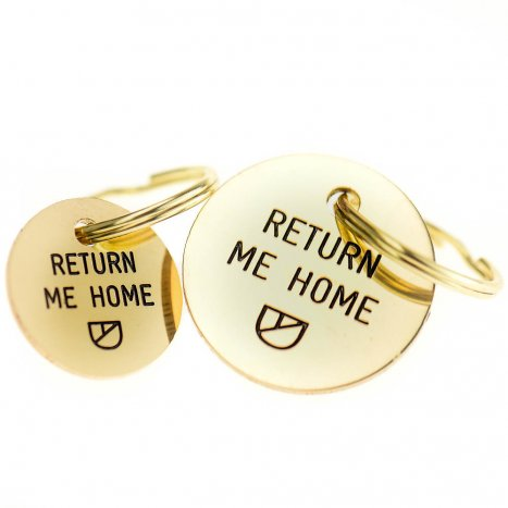 Doggie Apparel luxury brass dogID tag