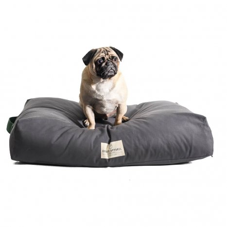 doggie apparel luxury grey dog bed 'zion'