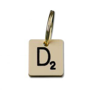 doggie apparel scrabble letter ID tag