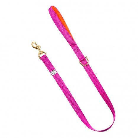 cerise pink webbing dog lead doggie apparel