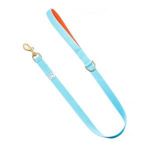 sky blue dog lead doggie apparel