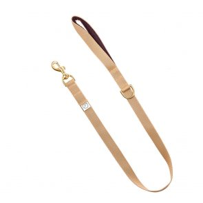 beige webbing dog lead doggie apparel