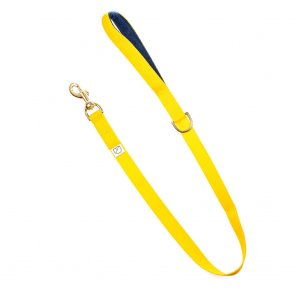 yellow webbing dog lead doggie apparel