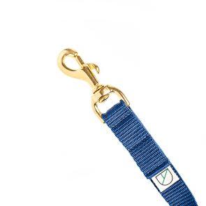 doggie apparel luxury handsfree dog lead in navy blue