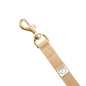 Doggie Apparel beige handsfree lightweight dog lead