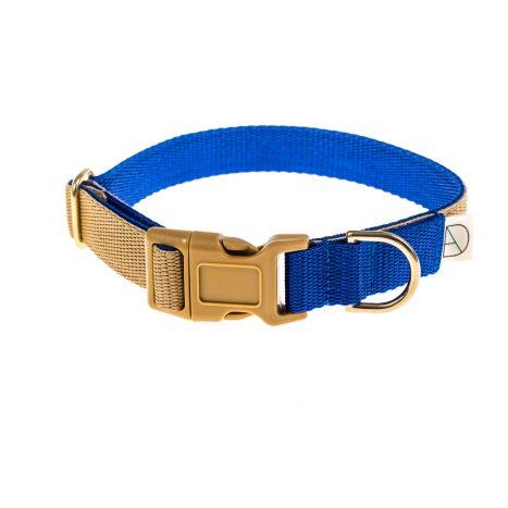 doggie apparel beige & royal dog collar
