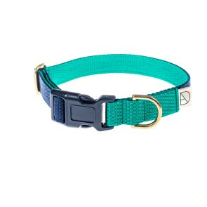 doggie apparel navy & emerald dog collar