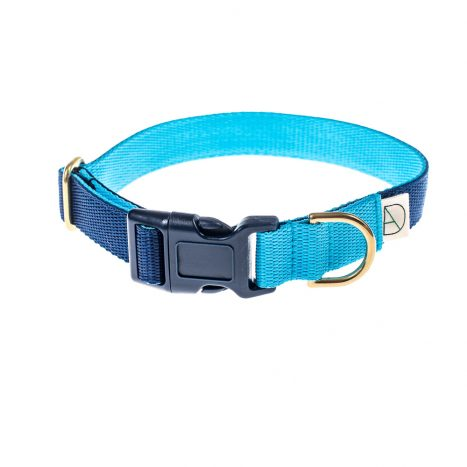 doggie apparel navy & sky dog collar