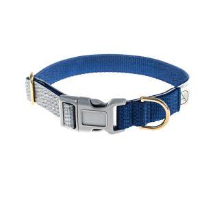 doggie apparel navy & grey dog collar