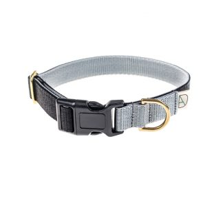 doggie apparel black & grey dog collar