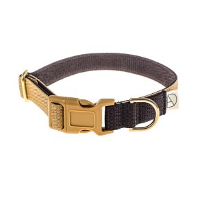 doggie apparel beige & brown dog collar