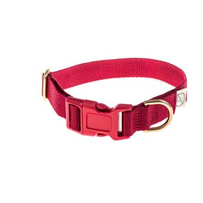 doggie apparel burgundy dog collar