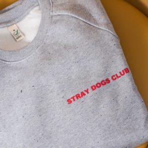 unisex grey stray dogs club jumper